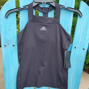 NWT Adidas Black Athletic Tank Medium!